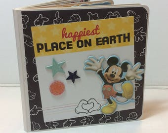 Disney scrapbook premade pages chipboard scrapbook mini album  Mickey Mouse Donald Duck vacation birthday
