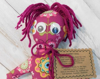 mental health tools Dang it doll stress relief doll self harm alternatives 7in size