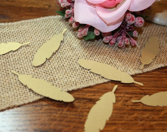 Bohemian-Anniversary-Wedding-Birthday-Adult Party 50 Feather Confetti Custom Colors Available