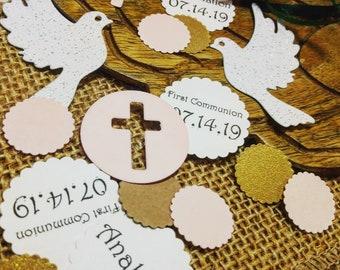 Personalize confetti 300 Ct Baptism party supplies boy Confirmation Communion