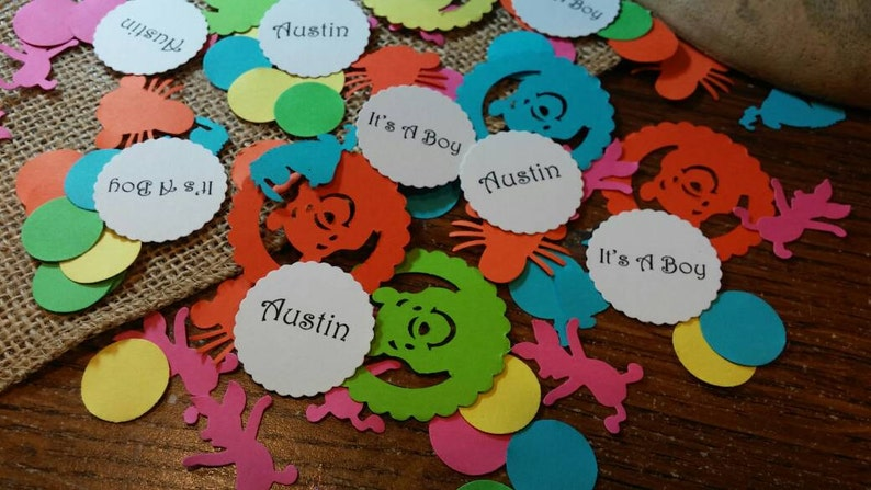 Personalize Winnie The Pooh /& Friends Confetti 300 CT Birthday Custom colors Baby Shower