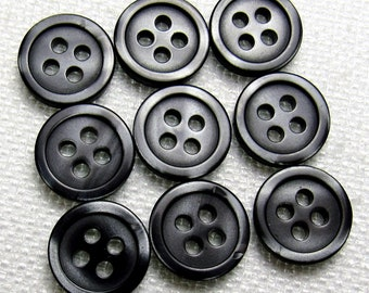 8pc 20mm Very Dark Mottled Grey Cardigan Trouser Shirt Baby Sewing Buttons 0371