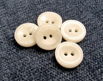 job lot set of 12 cream light dark brown buttons tiny small shirt buttons 12mm