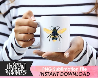 Digitally Painted Honey Bee Design, Sublimation Designs,  File PNG, Queen Bee, Sweet like Honey