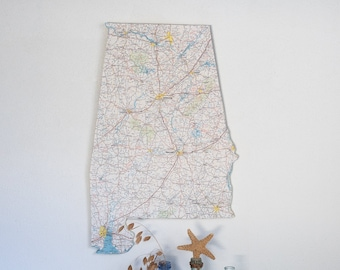 ALABAMA State Map Wall Decor   Alabama   State Decor   Wall Decor   Perfect Gift for Any Occasion   Vintage Map   Medium Size