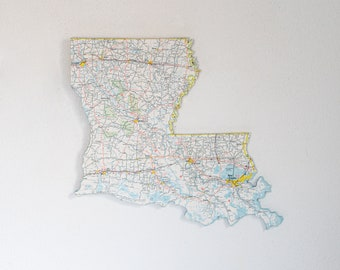 LOUISIANA State Map Wall Decor   Louisiana   State Decor   Wall Decor   Vintage Map   Perfect Gift for Any Occasion   Medium Size