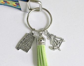 ALABAMA Keychain Wristlet   Key Fob Wristlet   Wristlet   Key Holder   Perfect Gift for Any Occassion   Alabama
