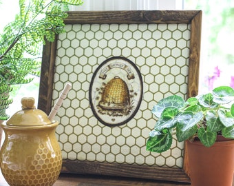 Honey Bee Wall Hanging, Wall Hanging, Honey Bee, Bee Hive, Bees, Wall Decor