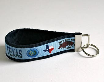 TEXAS Keychain Wristlet   Key Fob Wristlet   Key Holders   Texas   Perfect Gift for Any Occasion   Teacher Gifts