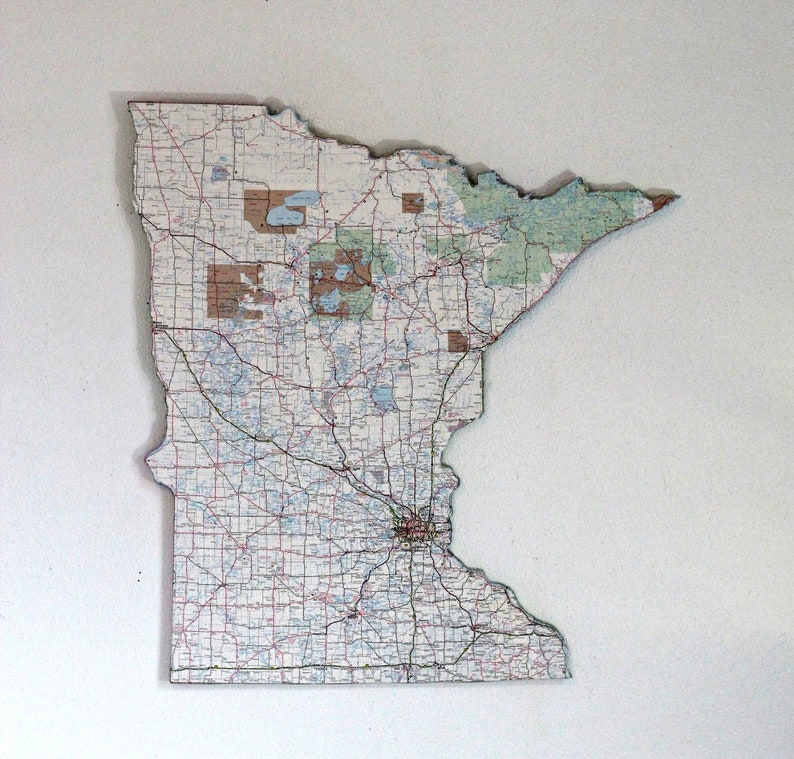 MINNESOTA State Map Wall Decor | Minnesota | Vintage Map | Wall Decor |  Office Decor | Perfect Gift for Any Occasion | Large Size