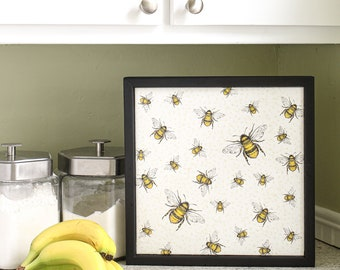 Bee Wall Hanging, Bees, Wall Hanging, Home Decor