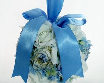 Something Blue Silk Pomander