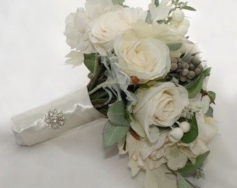 SALE Winter White Bridal Bouquet