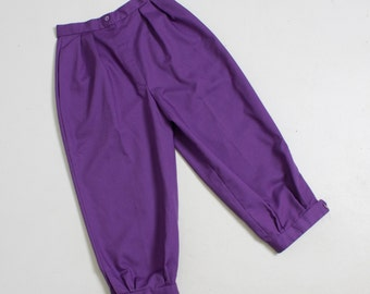 42bcf70bf14 SALE Vintage 1960s Pants - High Waisted Purple Capri Cropped Pedal Pushers  - Extra Small XS