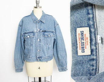 Guess Cropped Jacket Etsy