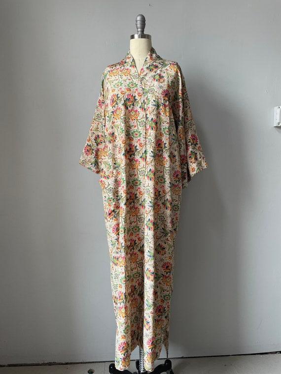 1940s Robe Rayon Paisley Loungewear S - image 1