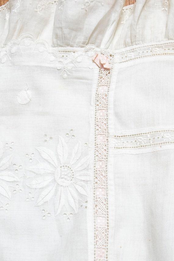 Victorian Antique Skirt Edwardian Cotton Embroide… - image 8