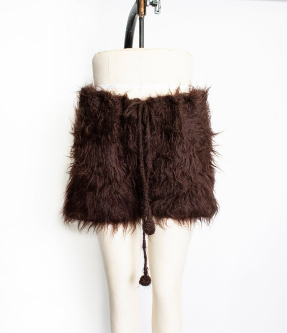 Vintage Mohair Knit Shorts Fuzzy Brown Knitwear 19