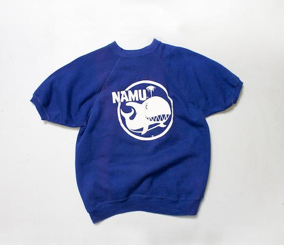 1960s Sweatshirt NAMU Whale Short Sleeve M