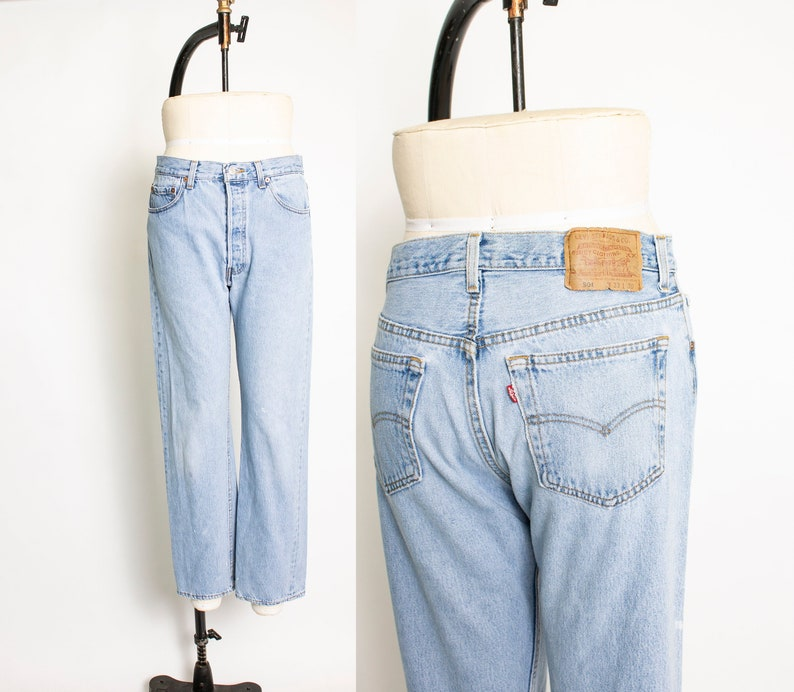889316d9f5c Vintage Levi s 501 JEANS Cotton Denim Straight Leg High