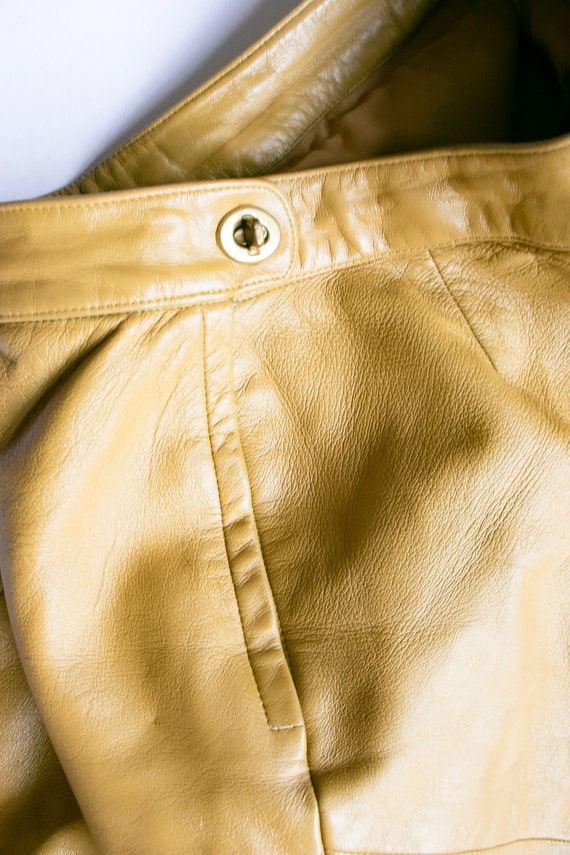 1960s BONNIE CASHIN  Leather Pants Taupe Cropped … - image 4