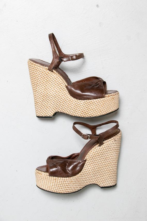 1970s Platform Heels Wonder Wedge Bonnie Smith Kim
