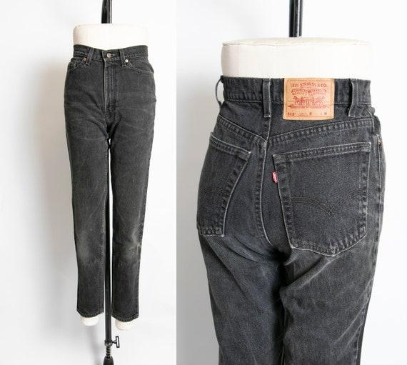 Levi's 512 JEANS Black Denim Slim Fit Straight Leg