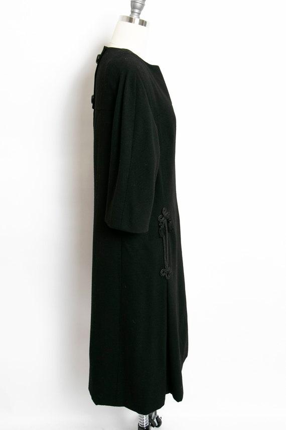 HARVEY BERIN 1960s Dress Black Wool Large - image 3