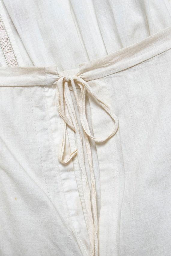 Victorian Antique Skirt Edwardian Cotton Embroide… - image 7