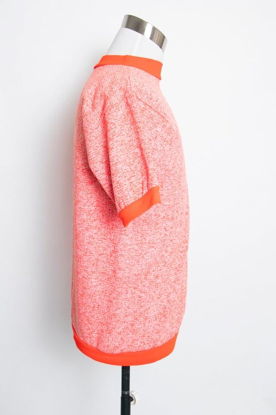 1960s Sweatshirt Short Sleeve Neon Penneys Towncr… - image 3
