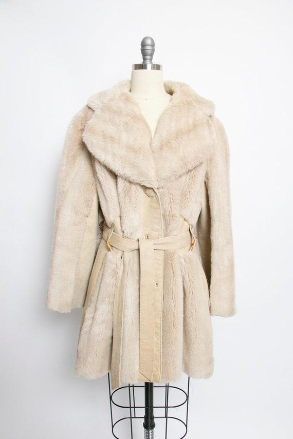 1970s LILLI ANN Coat 1970s FAUX Fur Suede M