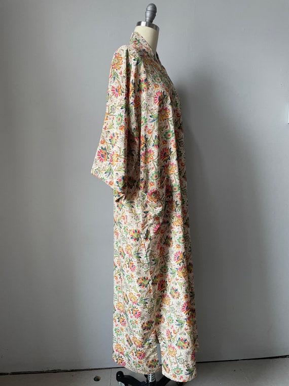 1940s Robe Rayon Paisley Loungewear S - image 3