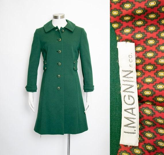 1960s Coat Green Wool Mod Small