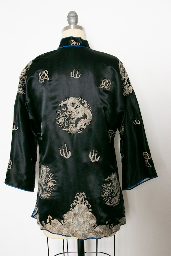 1950s Jacket Chinese Silk Embroidered Robe S - image 2