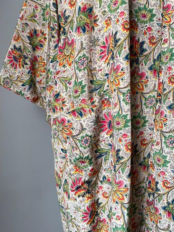 1940s Robe Rayon Paisley Loungewear S - image 8