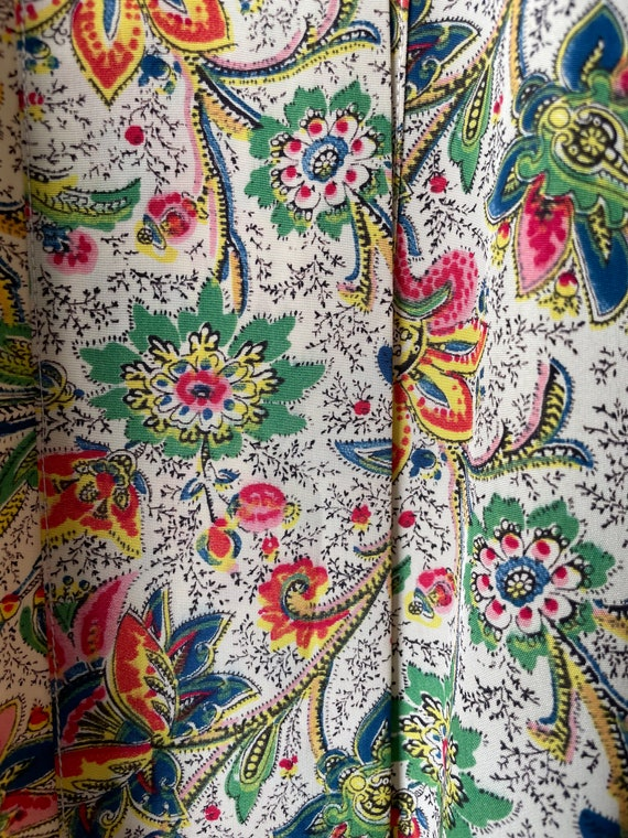1940s Robe Rayon Paisley Loungewear S - image 9
