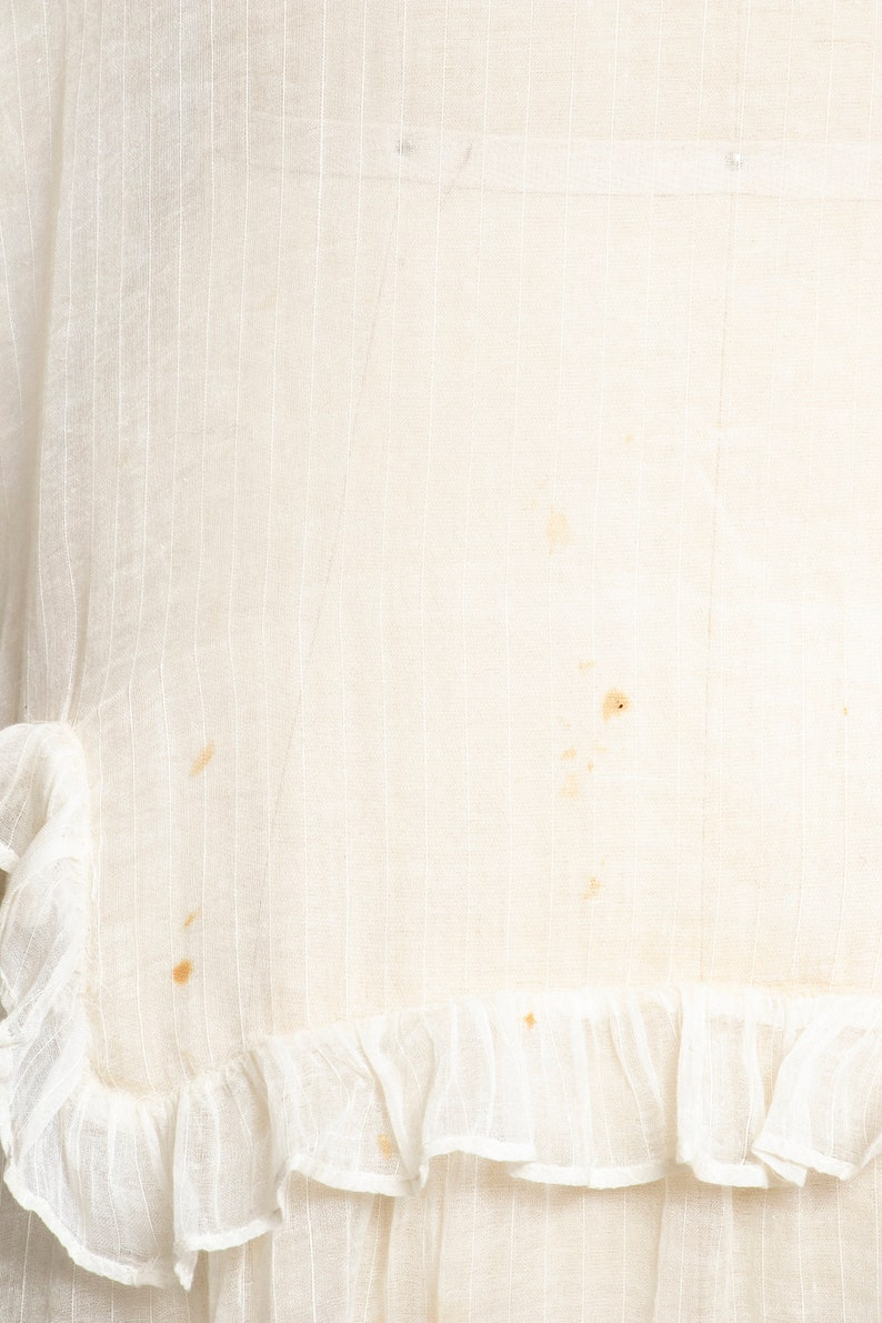 1920s Lawn Dress Sheer Cotton Ruffled Small