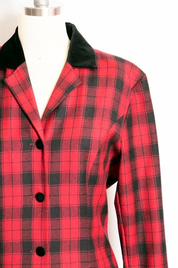 1990s Dress Laura Ashley Wool Shirtfront M - image 6