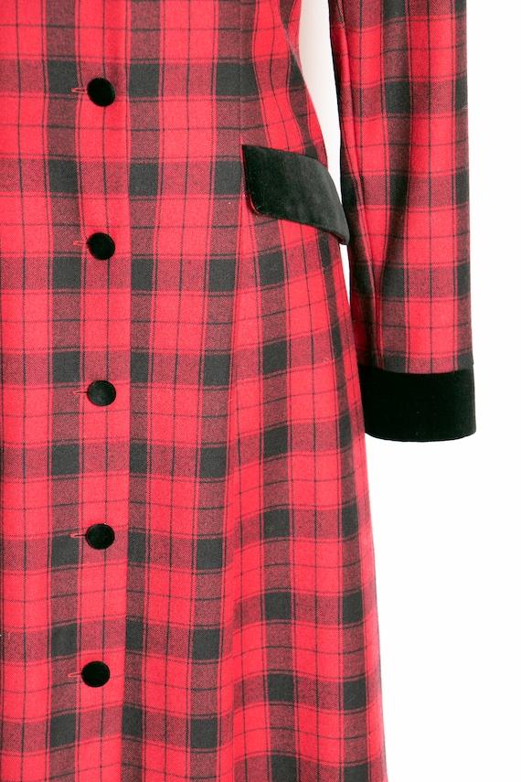 1990s Dress Laura Ashley Wool Shirtfront M - image 5