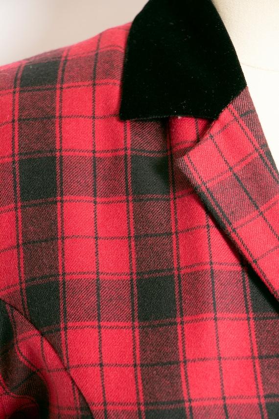 1990s Dress Laura Ashley Wool Shirtfront M - image 8
