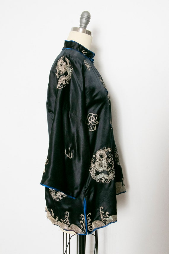 1950s Jacket Chinese Silk Embroidered Robe S - image 3