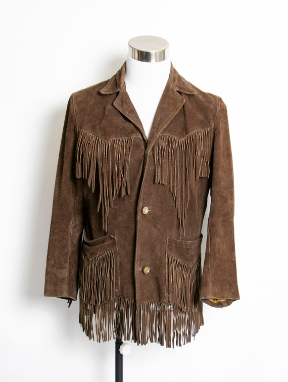 Vintage 1970s FRINGE Suede Jacket  Western Leather