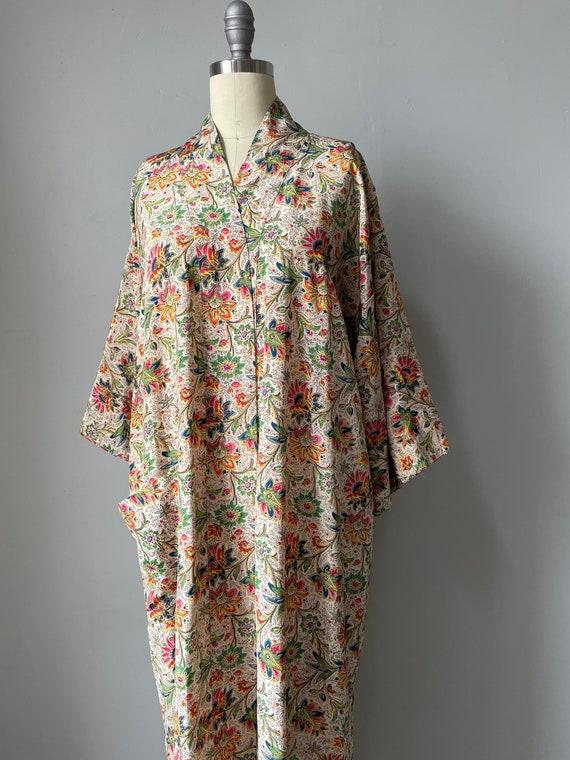1940s Robe Rayon Paisley Loungewear S - image 4