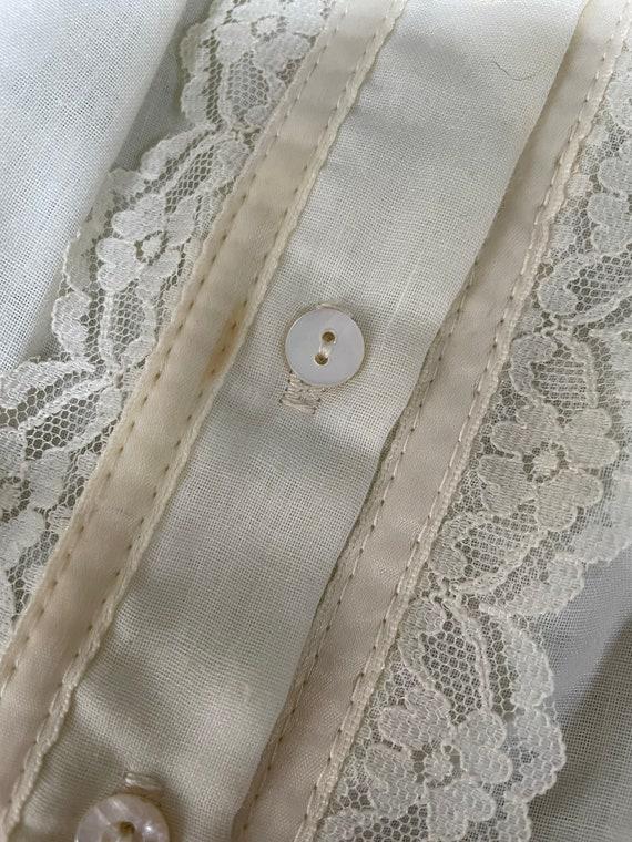 1970s Gunne Sax Blouse Cotton Lace Peasant Top S - image 10