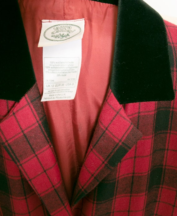 1990s Dress Laura Ashley Wool Shirtfront M - image 9