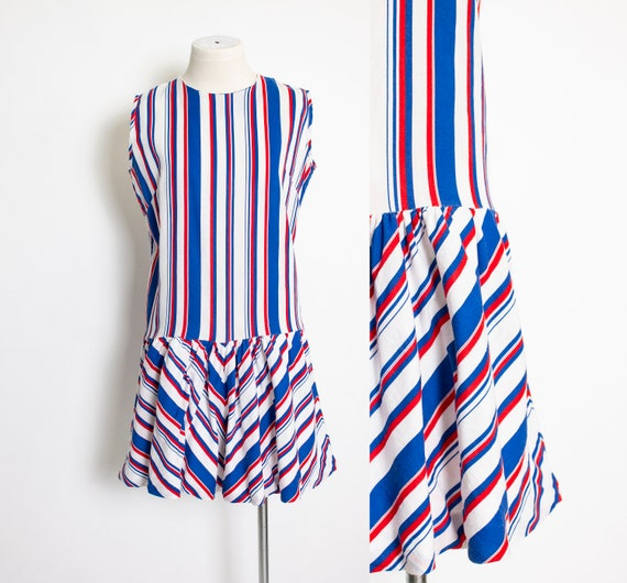 1960s Romper Striped Cotton Playsuit Medium