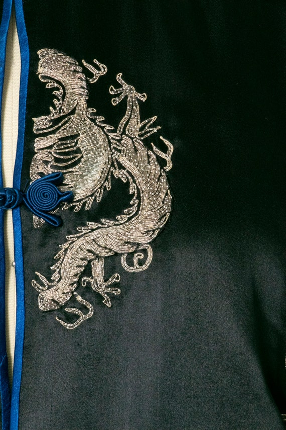 1950s Jacket Chinese Silk Embroidered Robe S - image 4