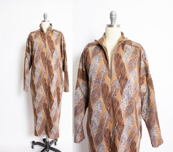 HANAE MORI Dress 1980s Wool Knit LEAF S M