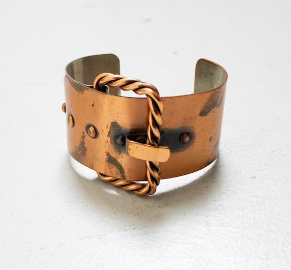 1950s Renoir Bracelet Copper Belt Buckle Cuff