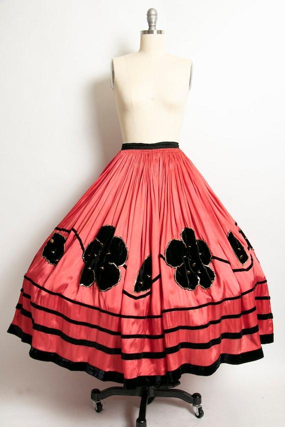 1920s Skirt Full Circle Folk Embellished Costume 3